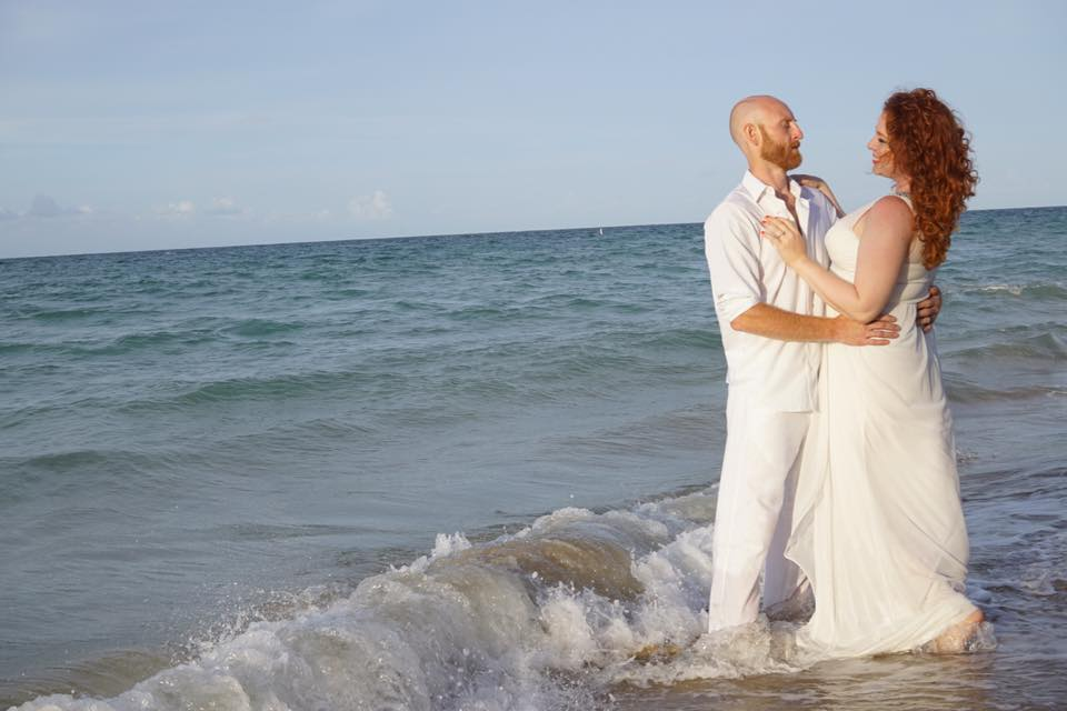 wedding beach photo